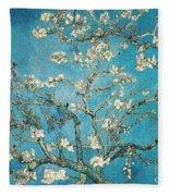 Almond Branches In Bloom Fleece Blanket