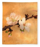 Almond Flowers Fleece Blanket