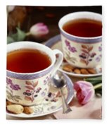 Almond Tea For Two Fleece Blanket