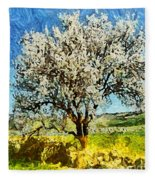 Almond Tree Fleece Blanket