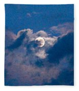 Almost Full Moon Fleece Blanket
