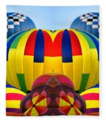 Almost Inflated Hot Air Balloons Mirror Image Fleece Blanket
