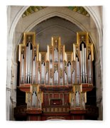 Almudena Cathedral Organ Fleece Blanket