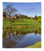 Alnwick Castle Panorama Fleece Blanket