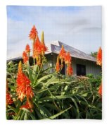Aloe Vera And Tin Roof Plantation House Fleece Blanket