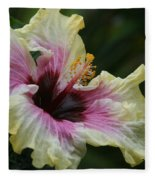 Aloha Aloalo Tropical Hibiscus Haiku Maui Hawaii Fleece Blanket