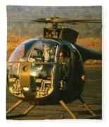 Aloha  Oh-6 Cayuse Light Observation   Helicopter Lz Oasis Vietnam 1968 Fleece Blanket