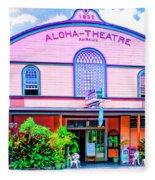 Aloha Theatre Kona Fleece Blanket