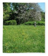 Alone In A Field Of Buttercups Fleece Blanket