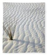 Alone In A Sea Of White Fleece Blanket