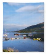 Along Loch Leven 2 Fleece Blanket