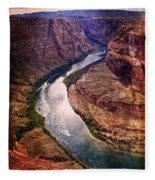 Along The Colorado River Fleece Blanket