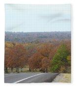 Along The Country Highway 1 Fleece Blanket