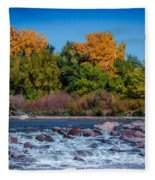 Along The Creek Fleece Blanket