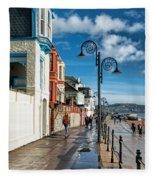 Along The Promenade - Lyme Regis Fleece Blanket