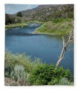 Along The Rio Grande River Fleece Blanket