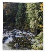 Along The River Bank Fleece Blanket