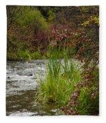 Along The Stream Fleece Blanket