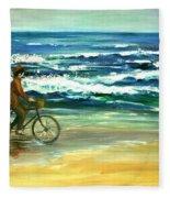 Along The Surf Fleece Blanket