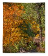Along The Trail Fleece Blanket