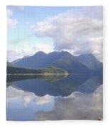 Alouette Lake Reflections - Golden Ears Prov. Park, Maple Ridge, British Columbia Fleece Blanket