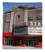 Alpena Michigan - State Theater Fleece Blanket