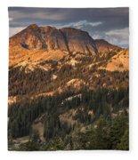 Alpenglow On Brokeoff Mountain Fleece Blanket