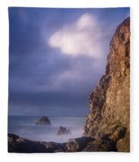 Alpenglow On Wedding Rock Fleece Blanket