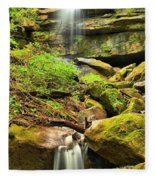 Alpha Falls Cascades Fleece Blanket