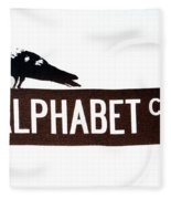 Alphabet City Fleece Blanket