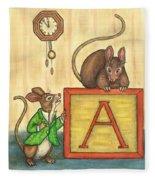 Alphabet Mice Fleece Blanket
