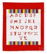 Alphabet Red Fleece Blanket