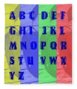 Alphabet With Apples Fleece Blanket