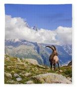 Alpine Ibex Fleece Blanket