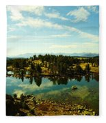 Alpine Lake Off The Beartooth Highway Fleece Blanket