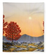 Alpine Meadow II Fleece Blanket