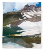 Alpine Reflection In The San Juans Fleece Blanket