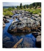 Alpine Stream Beartooth Mounain Range Fleece Blanket