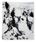 Alps In Black And White Fleece Blanket