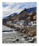 Alps Vicinity Fleece Blanket
