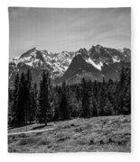 Alpspitze Till Zugspitze II Fleece Blanket