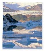 Alsek Glacier In St. Elias Mountains Fleece Blanket