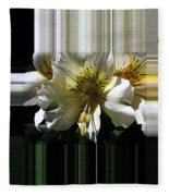 Alstroemeria Named Marilene Staprilene Fleece Blanket