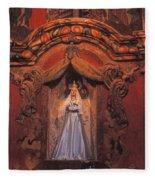 Altar And Madonna Fleece Blanket