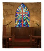 Altar At The Little Church In La Villita Fleece Blanket