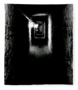Altered Image Of The Catacomb Tunnels Paris France  Fleece Blanket