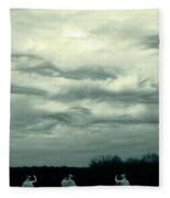 Altostratus Undulatus Asperatus Clouds Fleece Blanket