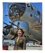 Aluminum Overcast 2 Fleece Blanket