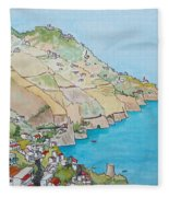 Amalfi Coast Praiano Italy Fleece Blanket