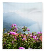 Amalfi Coast View From Ravello Italy  Fleece Blanket